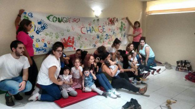 El equipo de voluntarios con nuestros niños